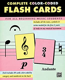 Complete Color Coded Flash Cards for All Beginning Music Stu