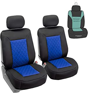 FH Group FB088102 Neosupreme Car Seat Cushion Deluxe Quality, Water Resistant, Non-Slip Backing, Easy Installation, Blue/Black Color w. Gift - Fit Most Car, Truck, SUV, or Van