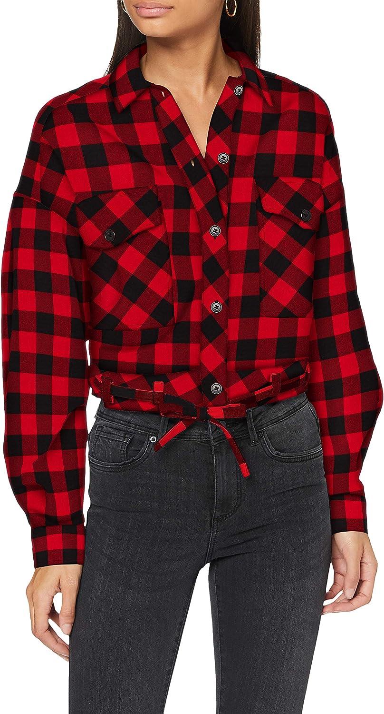Urban Classics Ladies - Flanell Shirt Short 授与 売買