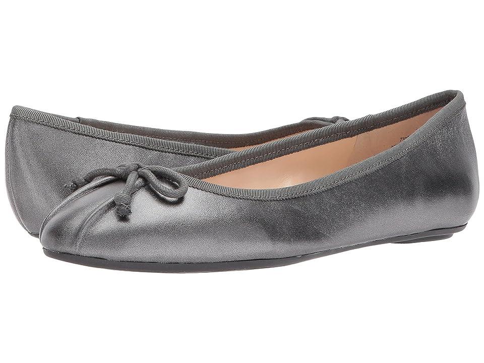 Nine West Batoka Ballerina Flat (Pewter/Dark Grey Metallic) Women