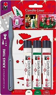Marabu Assorted Xmas Time Candle Liner Set