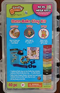 Firefly by - 40 Pc Mega Oven-Bake Clay Kit includes Project Booklet