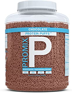 ProMix Whey Protein Isolate Puffs, Chocolate, 30 Servings | 10g Protein, 0g Sugar, 50 calories per serving | Grass Fed Protein Crisps, Healthy High Protein Low Sugar Snacks | Gluten Free