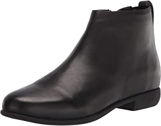 Aerosoles Women's Spencer Ankle Boot, Black Leather, 9 Wide