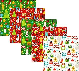 10 peças de tecido de algodão natalino Desfrute de costura DIY amplamente usada, patchwork de algodão quadrado grosso de N...