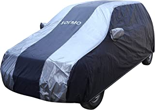 Amazon Brand - Solimo Maruti Alto K10 Water Resistant Car Cover (Dark Blue & Silver)