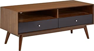 Rivet Mid-Century Modern Wood Media TV Console Coffee Table, 47