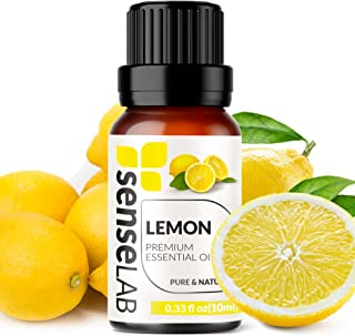 Lemon Essential Oil - Made in India - Cold-pressed 100% Pure Extract Lemon Oil Therapeutic Grade (0.33 Fl Oz / 10 ml)