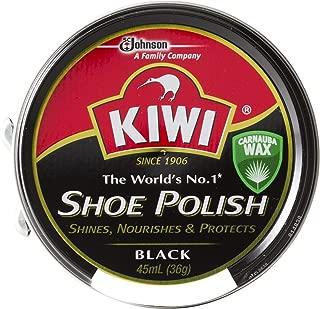 [Kiwi] キィウイ 靴墨 シューポリッシュ 油性靴クリーム[45ml][黒・茶・無色] キューイ 靴クリーム