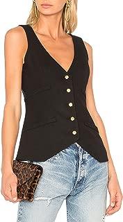 Women's Front Button Closure Waistcoat Vest Tops