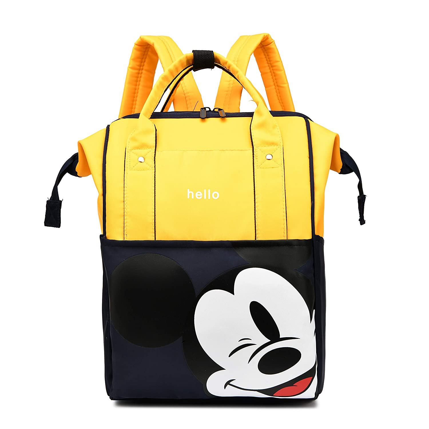 Mi-ck-ey Mouse Diaper Bag Backpack Portable Multifunction Travel Bag for Mom and Dad