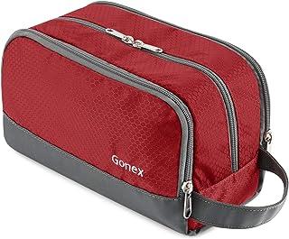 Gonex Travel Toiletry Bag Nylon, Dopp Kit Shaving Bag Toiletry Organizer Red