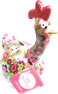 Skarbonka jabłko Pidou, ceramika kurczak Gregory zielone tło słonie 16,3 x 10,5 x 18,3 cm