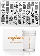 Royalkart Nail Art Stamping Kit (CF07) Image Plate with Soft Nail Silicone Stamper| Gift for Girl/Women Nail combo kit