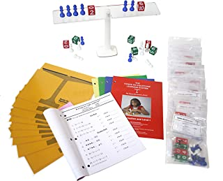 Hands-On Equations Class Set for Teacher and 10 Students. Includes The Teacher Demonstration Balance Scale and Game Pieces and 10 Sets of Student Manipulatives