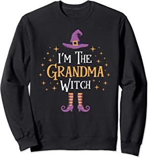 I'm The Grandma Witch Sweatshirt Matching Family Trick Treat