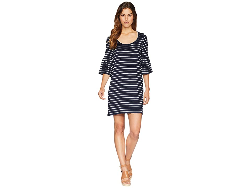 BB Dakota Shades Of Cool Striped Dress (Midnight Sky) Women