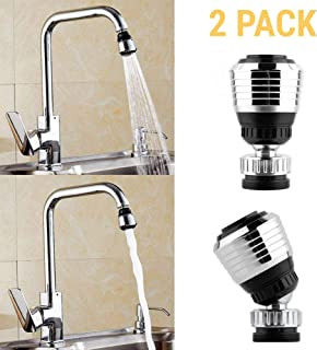 SPY SEE OPEN YOUR EYES Kitchen Water Saver Tap 360 Rotate Swivel Saving Aerator Diffuser, Faucet Nozzle Filter Adapter (2 Pack)