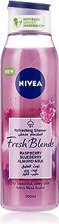NIVEA Fresh Blends Shower Gel, Raspberry Blueberry Almond Milk, 300ml