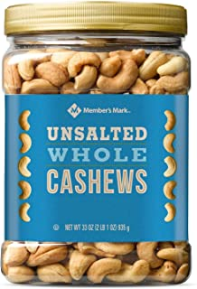 Member's Mark Unsalted Whole Cashews 33 Oz