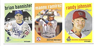 RANDY JOHNSON MANNY RAMIREZ BRIAN BANNISTER 2008 Topps Heritage Advertising Panel Boxtopper 3