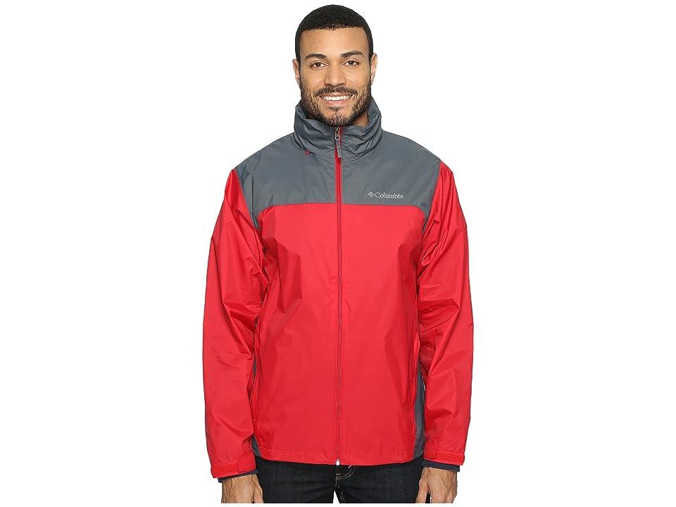 Columbia Glennaker Laketm Rain Jacket (Mountain Red/Graphite) Men