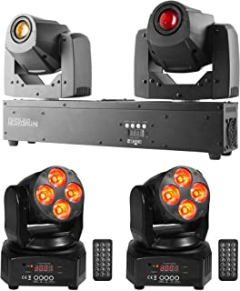 Chauvet Intimidator Spot Duo 155 LED Moving Heads+(2) Mini Moving Head Lights