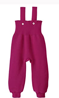 Disana 100% Organic Merino Wool Knitted Trausers/pants Made in Germany (6-12 Months, Berry)