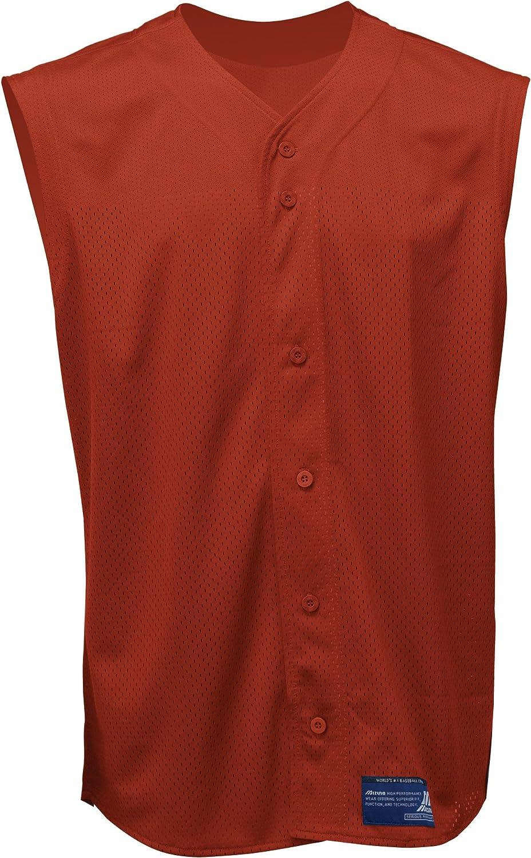 Soldering Mizuno Indefinitely Men's Full Button Baseball Jersey Mesh Sleeveless
