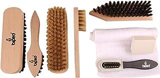 Juego de cepillos para Calzado Classic - Cepillos para Calzado, para el Cuidado de Cuero Liso y Rugoso - Juego para Limpieza del Calzado con cepillos lustradores y cepillos para Ante z2463