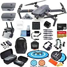 DJI Mavic Pro Drone Quadcopter Fly More Combo with 3 Batteries, 4K Professional Camera Gimbal Bundle Kit with Ultimate Fly...