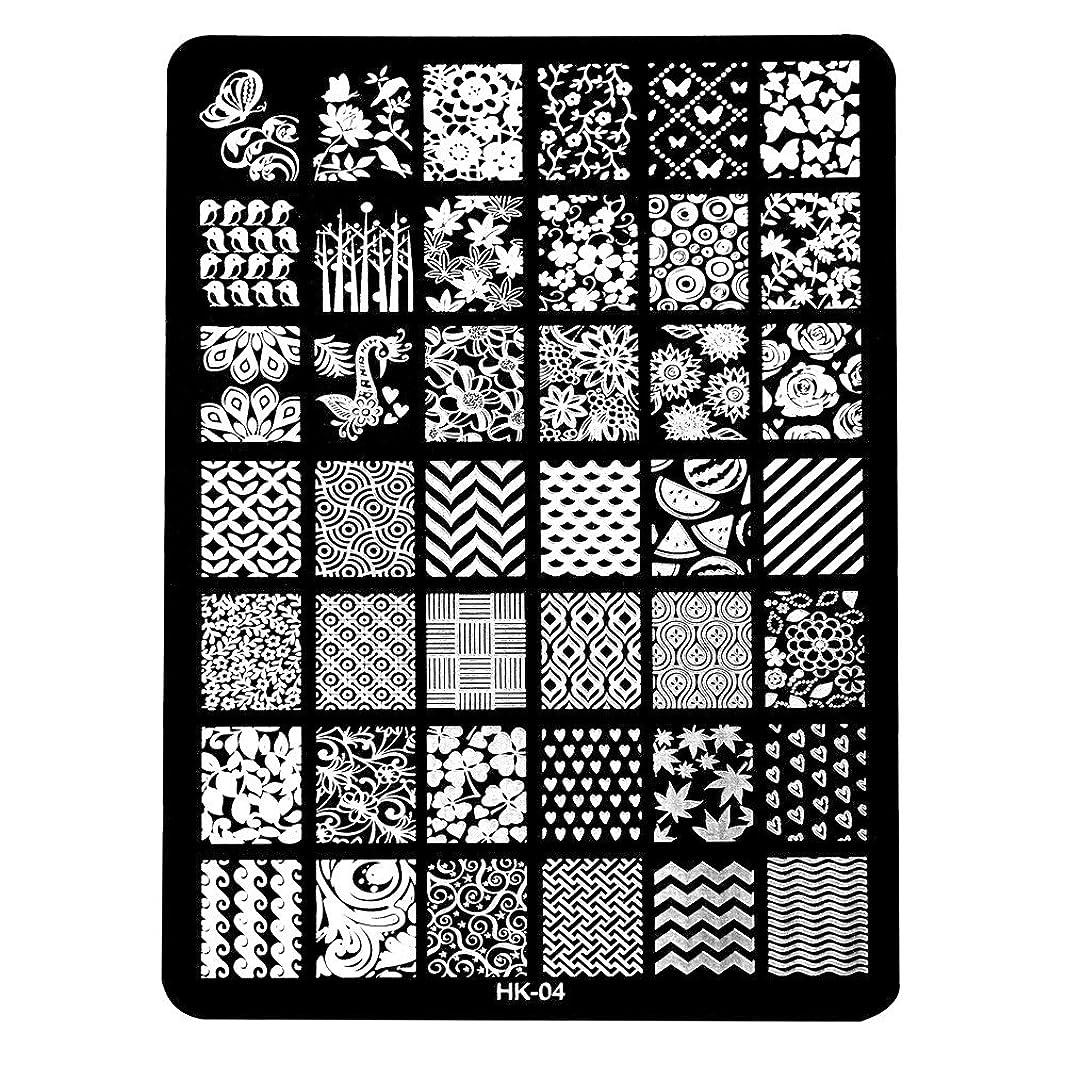 ポット早熟寄稿者[ルテンズ] スタンピングプレートセット 花柄 ネイルプレート ネイルアートツール ネイルプレート ネイルスタンパー ネイルスタンプ スタンプネイル ネイルデザイン用品