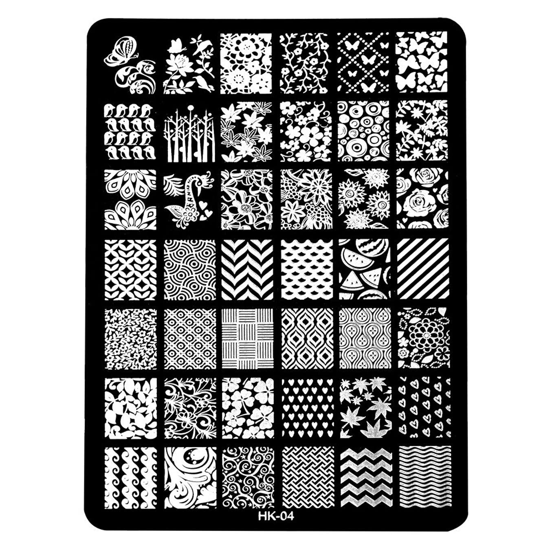 ブルゴーニュ灰接辞[ルテンズ] スタンピングプレートセット 花柄 ネイルプレート ネイルアートツール ネイルプレート ネイルスタンパー ネイルスタンプ スタンプネイル ネイルデザイン用品