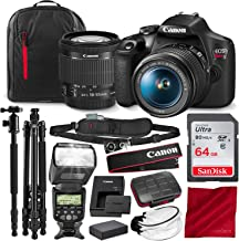 Canon T7 EOS Rebel DSLR Camera with EF-S 18-55mm f/3.5-5.6 is II Lens and 67