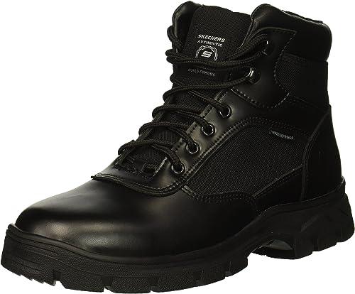 Skechers Hommes's Wascana Wascana Industrial démarrage, noir Leather Textile, 12 M US  haute qualité