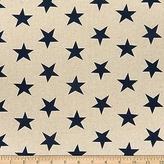 Kaufman Sevenberry Segeltuch mit natürlichen Sternen, marineblau, Meterware
