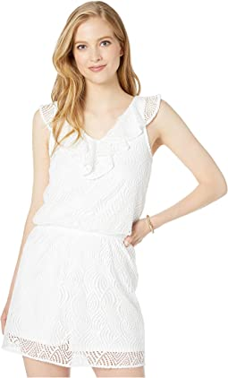 Resort White Flowing Leaf Lace
