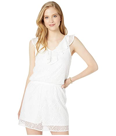 Lilly Pulitzer Alessa Romper (Resort White Flowing Leaf Lace) Women