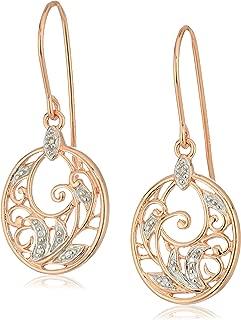Best rose gold diamond drop earrings Reviews