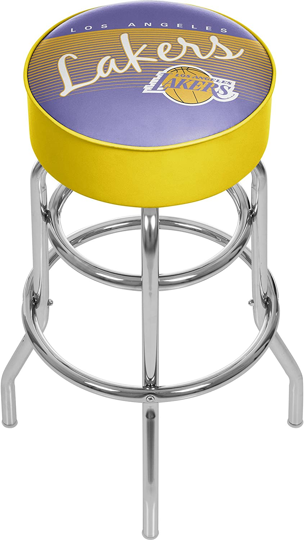 NBA Los Angeles Lakers Hardwood Classics Bar Stool, One Size, Chrome