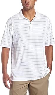 Nike Men's Tech Core Stripe Golf Polo Shirt, White/Black/Black, XX-Large