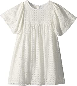 Chloe Kids - French Embroideries Short Sleeve Dress (Little Kids/Big Kids)