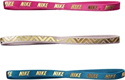 Nike - Metallic Hairbands 3-Pack