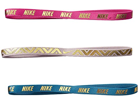 e58fbb48b867c Nike Metallic Hairbands 3-Pack at Zappos.com
