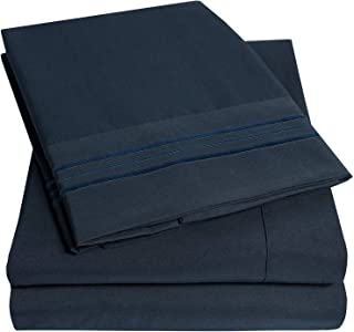 1500 Supreme Collection Extra Soft King Sheets Set, Navy Blue – Luxury Bed Sheets..