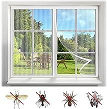 Vliegscherm Mosquito Magnetisch Raamscherm, Mesh Venstergordijnen Netto Fly Mosquito Insecten Scherm, Wit-1, 160X165CM