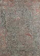 Jaipur Rugs Transitional Blue 5'6X8 Feet Wool and Silk Geometric Rug and Carpet