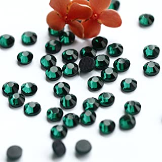 1440pcs Ss16 About 4mm Dmc Iron on Hot Fix Crystal Rhinestones Diamond Gems Wholesale (dark green)