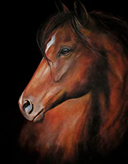 HEAD OF THE HERD - 11 X 14 Inch Horse Fine Art Print from Original Painting by Art by Connie
