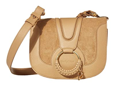 See by Chloe Hana Small Suede Leather Crossbody (Coconut Brown) Cross Body Handbags